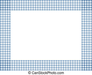Blue Gingham Frame - Blue Gingham Background with center...