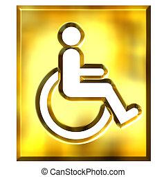 3D Golden Special Needs Sign - 3d golden special needs sign...