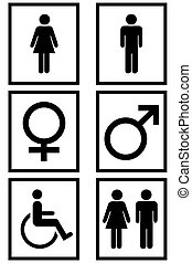 Gender Signs - Gender signs isolated in white
