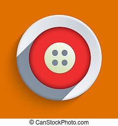 Vector flat icon on orange background. Eps10