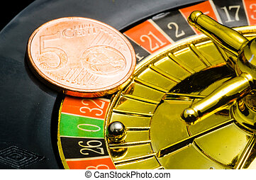 Casino Roulette an euros - Casino Roulette an five cent coin