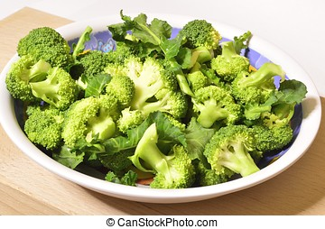 Raw broccoli ready for cooking, organic product from Italian...