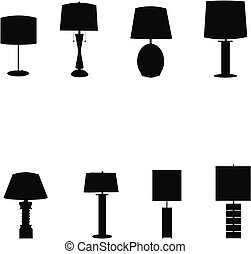 retro table lmaps outlines - silhouettes set of retro table...