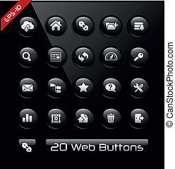 FTP and Hosting Icons - Vector buttons for your website or...