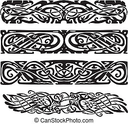 knot designs in celtic style with birds - Knot designs in...