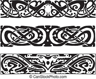 celtic knot designs with snakes and dragon