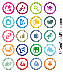 SEO circle icon sets - suitable for illustrations