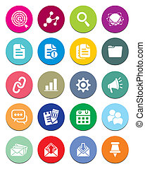 SEO round icon sets - suitable for user interface