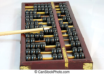 Abacus and Brush - A Brush is on an abacus ,which is on...