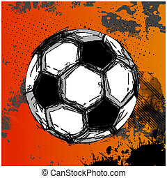 Vector Grunge Color Full Soccer Ball, easy all editable