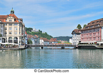 Lucerne, Switzerland - Switzerland Beautiful quays of...