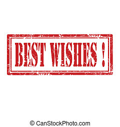 Best Wishes-stamp - Grunge rubber stamp with text Best...
