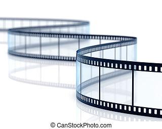 Film strip - 3d render of film strip on white background