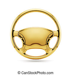 golden steering wheel