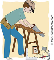 The Builder - A working carpenter, builder, or general...