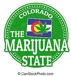 The marijuana state, Colorado stamp - The marijuana state,...