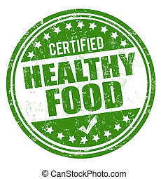 Healthy food stamp - Healthy food grunge rubber stamp on...