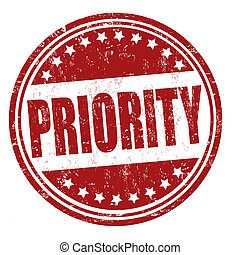 Priority stamp - Priority grunge rubber stamp on white,...