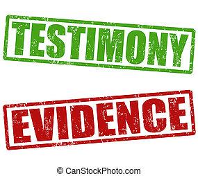 testimonio, evidencia, sellos
