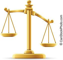 déséquilibré, justice, échelle