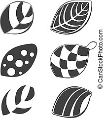 Colections of leaf design elements, useful for various projects