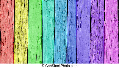 Colorful Wooden Background - Colorful wood background with a...