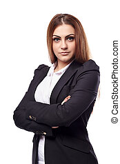 Businesswoman with arms folded