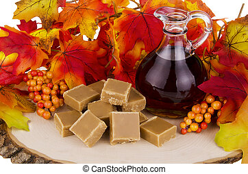 Maple syrup - Presentation of maple syrup and sugar cream...