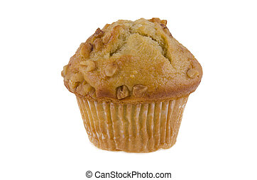 Banana Muffin - Banana muffin, isolated on white background