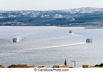 Channel Line Ferry in Malta - Channel Line Ferry on its way...