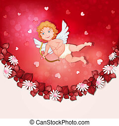 Valentine's Day cupid isolated