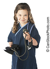 Ready to Take a Blood Pressure - An adorable elementary...