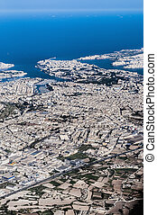 Valletta in Malta as seen from the air. - Valletta Citta...
