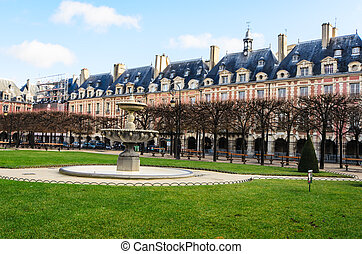 place des vosges paris - The Place des Vosges in Paris...