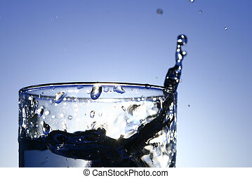 clean water - clean cold fresh water in the glass