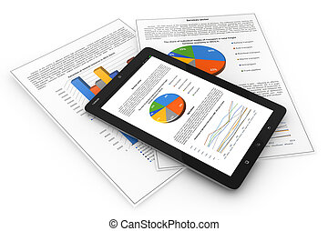 Mobile finance. Business concept