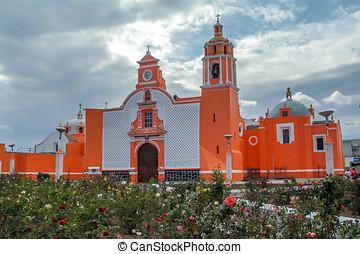 Iglesia Huejotzingo Puebla, Mexico