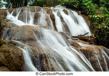 The Cataratas de Agua Azul - Waterfalls in Aqua Azul...