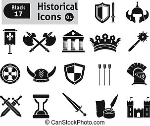 Histoical icons. Vector set for you design