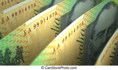 Australian Dollar Close-up seamless