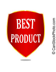 A label indicating the best product -illustration