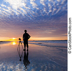 silueta, fotógrafo