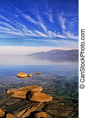 Cap Corse under an azure sky - The mountains and coastline...