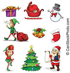 Christmas signs - Illustration of the christmas signs on a...