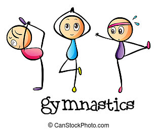 Stickmen doing gymnastics - Illustration of the stickmen...