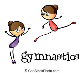Two gymnasts