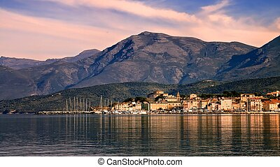 St Florent, Corsica - The coastal town of St Florent in...