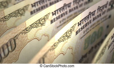 Indian Rupee Close-up (seamless)