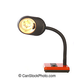 Desk lamp ?n a white background