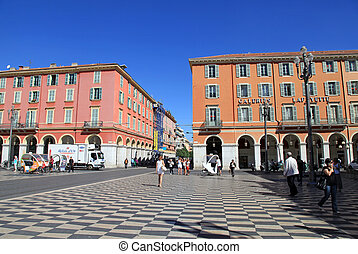 Place Massena in Nice, France - Central square - Place...